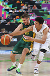 07.09.2014. Barcelona, Spain. 2014 FIBA Basketball World Cup, round of 16. Picture show S. Vasiliauskas and T. Webster  in action during game between New Zealand   v  Lithuania at Palau St. Jordi