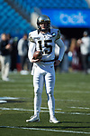 Garrett Wilson (15) of the Wake Forest Demon Deacons prior to the game against the Texas A&M Aggies at Bank of America Stadium on December 29, 2017 in Charlotte, North Carolina.  The Demon Deacons defeated the Aggies 55-52.  (Brian Westerholt/Sports On Film)