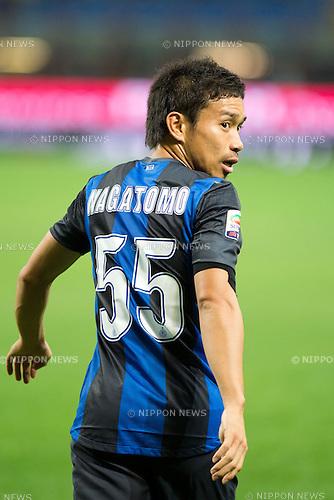 """Yuto Nagatomo (Inter), SEPTEMBER 30, 2012 - Football / Soccer : Italian """"Serie A"""" match between Inter Milan 2-1 Fiorentina at Stadio Giuseppe Meazza in Milan, Italy. (Photo by Enrico Calderoni/AFLO SPORT) [0391]"""