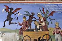 BG41208.JPG BULGARIA, RILA MONASTERY, CHURCH OF NATIVITY, frescoes