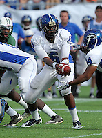 Armwood Hawks quarterback Darryl Richardson #6 hands the ball off during the second quarter of the Florida High School Athletic Association 6A Championship Game at Florida's Citrus Bowl on December 17, 2011 in Orlando, Florida.  The score at halftime is Armwood 16 - Miami Central 14.  (Mike Janes/Four Seam Images)