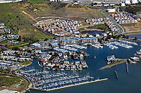 aerial photography Brickyard Cove, Richmond, Contra Costa county California
