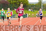 Cara Hienrick Marian Park winning the Semi Final of the Girls U-14 100m at the Kerry community games athlethics finals at an Riocht, Castleisland on Sunday.