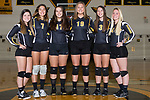 The 2017 Tuscola Warrior Volleyball Seniors. From left are Isabelle Shelmadine, Daria Calanchini, Rachel Manselle, Cassie Russo, Gemini Pettry, and Ashtyn Clark. [Photo: Douglas Cottle]