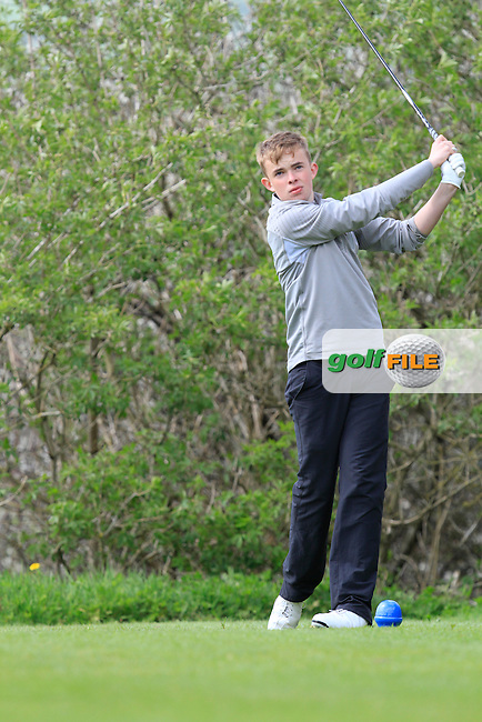 John Kerrisk (Killarney) on the 15th tee during Day 1 of The Munster Youths' Amateur Open Championship in Dungarvan Golf Club on Wednesday 23nd April 2014.<br /> Picture:  Thos Caffrey / www.golffile.ie
