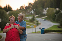 "Teri Reeder, 51, and Robin Silver, 49, of Greensboro, NC have been together for 8 years and have known each other for 23. They are legally married in Canada. ""Acceptance is the real American dream,"" says Teri. She defines acceptance as ""to wake up and not have to brace myself for someone not liking me."" ""I don't want to have to think about being gay every day! It's just one part of me!"" says Robin."