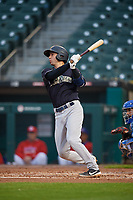 Scranton/Wilkes-Barre RailRiders Kyle Higashioka (66) hits a home run during an International League game against the Buffalo Bisons on June 5, 2019 at Sahlen Field in Buffalo, New York.  Scranton defeated Buffalo 4-0, the second game of a doubleheader.  (Mike Janes/Four Seam Images)