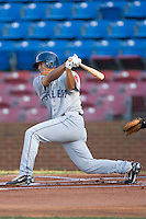 Che-Hsuan Lin #35 of the Salem Red Sox follows through on his swing versus the Winston-Salem Dash at Wake Forest Baseball Stadium July 7, 2009 in Winston-Salem, North Carolina. (Photo by Brian Westerholt / Four Seam Images)