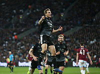 Burnley's Chris Wood celebrates scoring his side's second goal <br /> <br /> Photographer Rob Newell/CameraSport<br /> <br /> The Premier League - West Ham United v Burnley - Saturday 3rd November 2018 - London Stadium - London<br /> <br /> World Copyright &copy; 2018 CameraSport. All rights reserved. 43 Linden Ave. Countesthorpe. Leicester. England. LE8 5PG - Tel: +44 (0) 116 277 4147 - admin@camerasport.com - www.camerasport.com