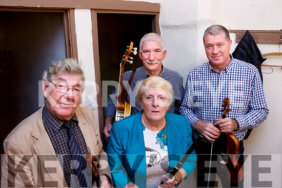 L to R: Musicians Nicky McAullife, Ann McAullife, Denis O'Connor and Con Moynihan who took part in the Con Houlihan Remembrance Day concert at the Ivy Leaf Arts Theatre in Castleisland on Saturday last.