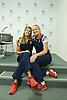 Team GB Beach Volleyball press conference<br /> at Team GB Press centre Stratford, London, Great Britain <br /> 19th July 2012 <br />  <br /> John Garcia Thompson<br /> Steve Grotowski<br /> Morph Bowes (Coach)<br /> Zara Dampney <br /> Shauna Mullin <br /> <br /> <br /> Photograph by Elliott Franks