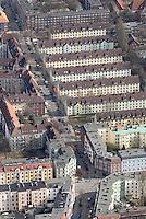 4415/Wilhelmsburg: EUROPA, DEUTSCHLAND, HAMBURG 22.03.2006  Wohnhaeuser in Hamburg Wilhelmsburg, Veringestrasse , Faehrstrasse, Wohnen, Wohnungen, Mehrfamilienhaus, Flaechenbedarf, Hinterhof, Innenhof, Sozialer Wohnungsbau, .Luftbild, Luftansicht