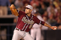 "Florida State Seminoles Sean Gilmartin #3 during a game vs. the Florida Gators in the ""Florida Four"" at George M. Steinbrenner Field in Tampa, Florida;  March 1, 2011.  Florida State defeated Florida 5-3.  Photo By Mike Janes/Four Seam Images"