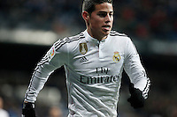 James of Real Madrid during La Liga match between Real Madrid and Sevilla at Santiago Bernabeu Stadium in Madrid, Spain. February 04, 2015. (ALTERPHOTOS/Caro Marin) /NORTEphoto.com