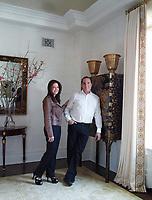 Portrait of Ellen and Daniel Crown in their Manhattan apartment.