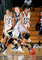 Florida International University forward Diamond Ashmore (13) plays against Florida Atlantic University which won the game 50-49 on January 21, 2012 at Miami, Florida. .