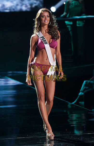 16 December 2015 - Las Vegas, Nevada - Miss Peru, Laura Vivian Spoya. 2015 Miss Universe Preliminary Competition at Axis at Planet Hollywood Resort and Casino. <br /> CAP/ADM/MJT<br /> &copy; MJT/AdMedia/Capital Pictures