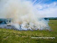 63863-02717 Summer prairie burn Prairie Ridge State Natural Area - aerial - Marion Co. IL