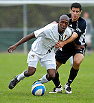 31 October 2007: The University of Vermont Catamounts' T.J. Gore, a Sophomore from Macomb, MI, in action against the University of Binghamton Bearcats at Historic Centennial Field in Burlington, Vermont. The Catamounts shut out the visiting Bearcats 2-0...Mandatory Photo Credit: Ed Wolfstein Photo