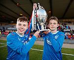 30.04.18 Glasgow Cup Final Rangers v Celtic : Rangers goalscorers Kai Kennedy and Ciaran Dickson