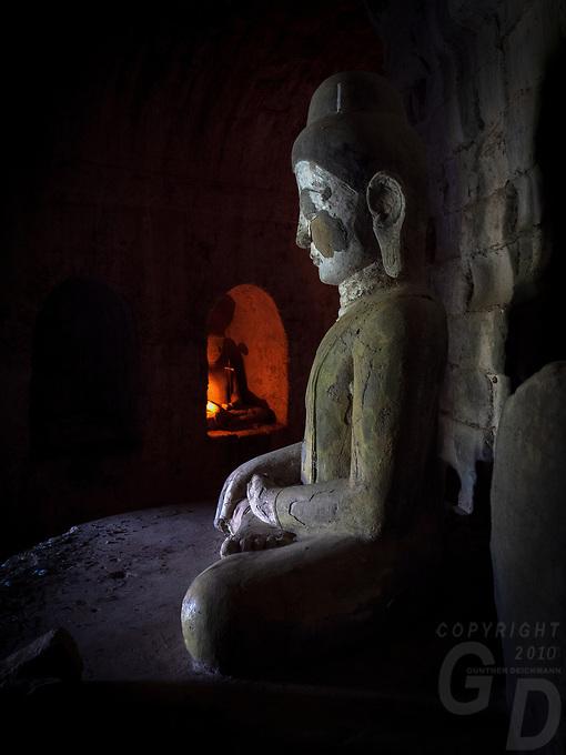 Inside the Lay Myat Na Temple, Mrauk U, Myanmar