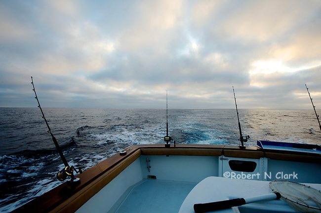 Heading out in the morning. Offshore fishing off the coast of San Diego and Northern Baja California on the sport fisher Faith