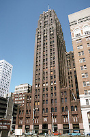 Seattle: Seattle Tower, 1928-29. Formerly the Northern Life Tower, 1218 Third Ave. Albertson, Wilson & Richarson. (The back lightens as you proceed upwards.)