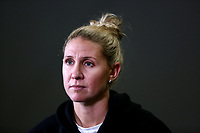 23.05.2019 Casey Kopua of the Silver Ferns speaks with media during the Silver Ferns squad announcement ahead of the Netball World Cup 2019 at the ILT Stadium in Invercargill. Mandatory Photo Credit Copyright photo: Dianne Manson/Michael Bradley Photography