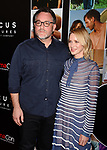 LAS VEGAS, CA - MARCH 29: Director Colin Trevorrow (L) and actress Naomi Watts arrive at CinemaCon 2017- Focus Features: Celebrating 15 Years and a Bright Future at Caesars Palace during CinemaCon, the official convention of the National Association of Theatre Owners, on March 29, 2017 in Las Vegas Nevada.