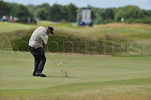 25/07/2010 Tom Lehman (USA)  in action in the final round of the Mastercard British Senior Open Golf Championship on the Championship Course at Carnoustie, Angus, Scotland