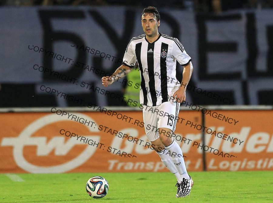 Fudbal Football Soccer<br /> UEFA Champions league-2nd qualifying round<br /> Partizan v HB Torshavn (Faroe Islands)<br /> Branislav Trajkovic<br /> Beograd, 07.15.2014.<br /> foto: Srdjan Stevanovic/Starsportphoto &copy;