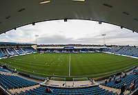 General view from the stands of Priestfield Stadium prior to the Sky Bet League One match between Gillingham and Colchester United on the 28th December 2015. Photo by Liam McAvoy.