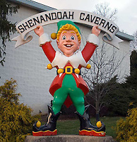 Elf at the Shenandoah Caverns in Virginia.