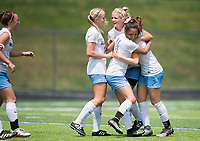 NWA Democrat-Gazette/CHARLIE KAIJO Southside High School players react after a goal during the semifinals of the 7A Girls State Soccer Tournament, Saturday, May 12, 2018 at Whitey Smith Stadium at Rogers High School in Rogers. Rogers advanced to the finals when midfielder Skylurr Patrick (3) scored both of Rogers' goals defeating Southside High School, 2-1.