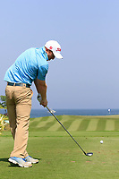 Gavin Moynihan (IRL) during the second round of the NBO Open played at Al Mouj Golf, Muscat, Sultanate of Oman. <br /> 16/02/2018.<br /> Picture: Golffile | Phil Inglis<br /> <br /> <br /> All photo usage must carry mandatory copyright credit (&copy; Golffile | Phil Inglis)