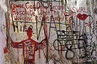 'Absolute Power' - graffiti, Berlin Wall west zone.10 November 1989