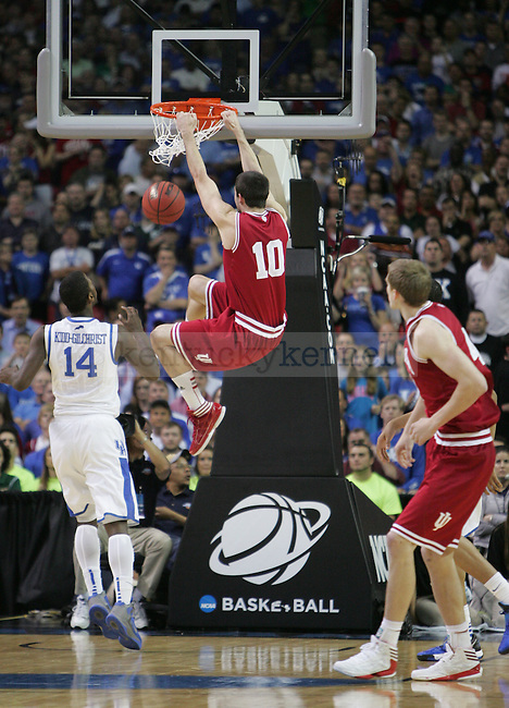 Indiana Forward Will Sheehey dunks the ball during the UK vs. Indiana South Regional Semifinals at the Georgia Dome in Atlanta,  March 23, 2012. Photo by Brandon Goodwin | Staff