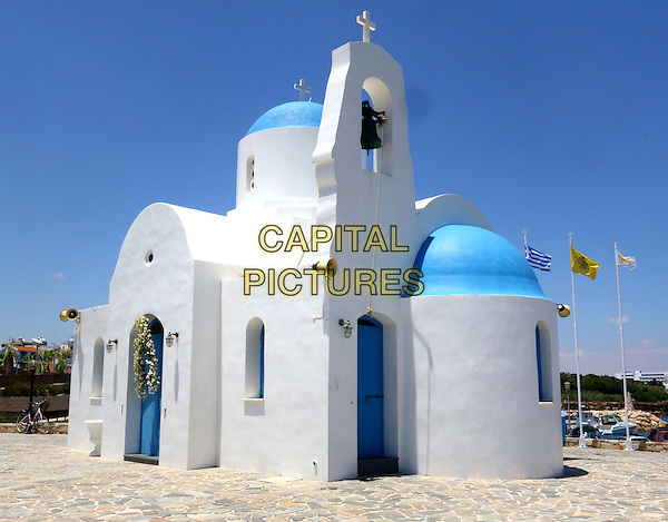 Greek orthodox church in the beach resort of Protaras, Cyprus - July 2015<br /> CAP/ROS<br /> &copy;ROS/Capital Pictures