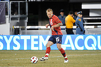 Jay DeMerit (15) of the United States. The United States (USA) and Argentina (ARG) played to a 1-1 tie during an international friendly at the New Meadowlands Stadium in East Rutherford, NJ, on March 26, 2011.