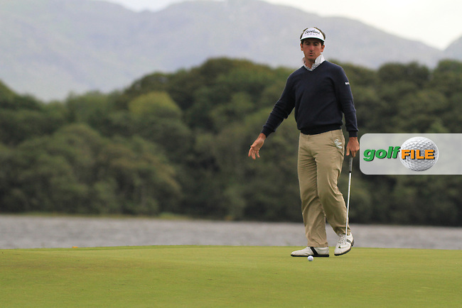 Gonzalo Fdez-Castano lines up his putt on the 10th green on day three of the 3 Irish Open, at the Killarney Golf and Fishing Club, Killarney, Ireland.Picture Fran Caffrey/www.golffile.ie.