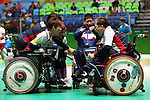 Japan team group (JPN),<br /> SEPTEMBER 10, 2016 - Boccia : <br /> Mixed Team BC1/BC2<br /> Group stage match between Japan 6-3 Netherlands<br /> at Carioca Arena 2<br /> during the Rio 2016 Paralympic Games in Rio de Janeiro, Brazil.<br /> (Photo by Shingo Ito/AFLO)