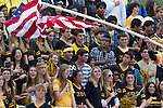 Palos Verdes, CA 11/10/11 - Crowd in action during the Peninsula-Palos Verdes varsity football game.