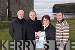 John Culloty, Danny Houlihan, Joanne Kelly Walsh and Christopher McSorley pictured in the castle green in Ballybunion to launch the upcoming events this spring and summer in the town.