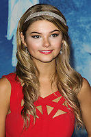 "HOLLYWOOD, CA - NOVEMBER 19: Stefanie Scott at the World Premiere Of Walt Disney Animation Studios' ""Frozen"" held at the El Capitan Theatre on November 19, 2013 in Hollywood, California. (Photo by David Acosta/Celebrity Monitor)"