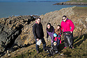 19/01/19<br /> <br /> L/R: Graham, Emily and Lily Tattersall with Dawn Wilde.<br /> <br /> Volunteers clean beaches near Cable Bay Anglesey to mark the RSPCA's 'PlastOff2019'<br /> <br /> All Rights Reserved, F Stop Press Ltd +44 (0)7765 242650  www.fstoppress.com rod@fstoppress.com