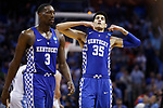 Kentucky Wildcats forward Derek Willis and forward Bam Adebayo reacts after a game winning shot by North Carolina Tar Heels forward Luke Maye during the 2017 NCAA Men's Basketball Tournament South Regional Elite 8 at FedExForum in Memphis, TN on Friday March 24, 2017. Photo by Michael Reaves | Staff