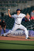 Northwest Arkansas Naturals pitcher Andres Sotillet (39) delivers a pitch during a Texas League game between the Northwest Arkansas Naturals and the Arkansas Travelers on May 30, 2019 at Arvest Ballpark in Springdale, Arkansas. (Jason Ivester/Four Seam Images)