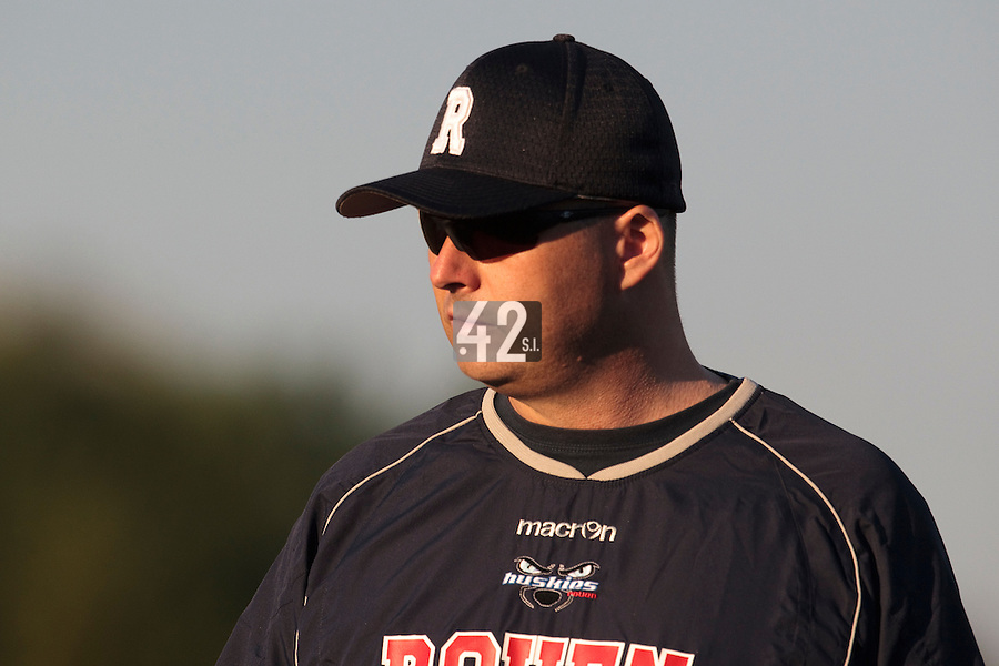 06 June 2010: Robin Roy of Rouen is seen during the 2010 Baseball European Cup match won 10-8 by the Rouen Huskies over AVG Draci Brno, at the AVG Arena, in Brno, Czech Republic.