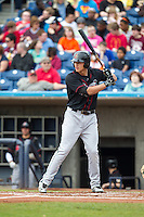 Great Lakes Loons infielder Corey Seager #12 bats during a game against the Quad Cities River Bandits at Modern Woodmen Park on April 29, 2013 in Davenport, Iowa. (Brace Hemmelgarn/Four Seam Images)