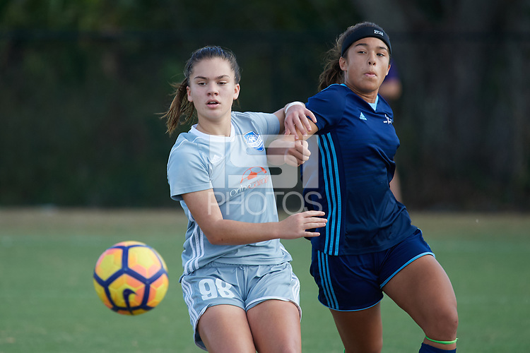 Lakewood Ranch, FL - December 08, 2017: 2017 Girls Development Academy Winter Showcase & Nike International Friendlies at Premier Sports Campus at Lakewood Ranch, FL.